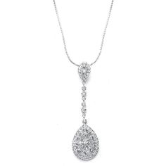 Graceful Faux Marcasite Dangle Pendant