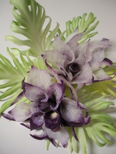 Purple Orchid  by wtimm9, via Flickr. Carved from Korean purple radish.