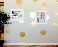 Room Makeover: Gold Polkadots would be so cute nand Kate Spade inspired in a little girls bedroom !