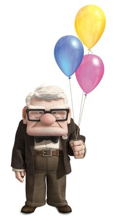 Pixar — There's just something about a curmudgeonly old. Disney Up, Disney Magic, Disney Movies, Walt Disney, Disney Stuff, Disney Theme, Carl Fredricksen, Up Pixar, Disney Drawings