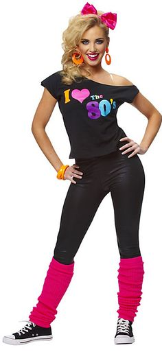 #Costume SuperCenter #80's Costumes #Womens #Love #Shirt Womens I Love The 80s Shirt http://www.snaproduct.com/product.aspx?PID=4883913