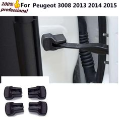 car body styling anti rust water proof Door lock key Plastic buckle Limit device trims 4pcs For Peugeot 3008 2013 2014 2015 #Affiliate