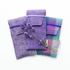 Purple glasses case, HARRIS TWEED specs cover, gift for grandparent, handwoven £19.00