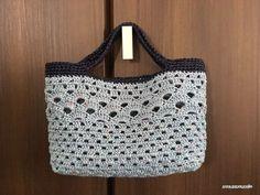 【無料編み図】松模様のトートバッグ