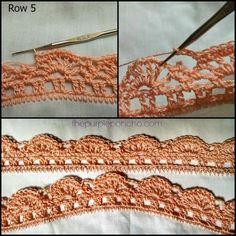 Vintage Fan Crochet Edging – A Free Pattern   The Purple Poncho