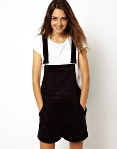 Monki Cord Dungaree