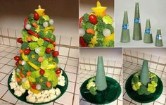 Christmas Veggie Tree Appetizer