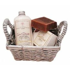 Give the gift of a good night's sleep with this Sweet Dreams Lavender Vanilla Spa Gift Basket from Castle Baths