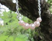 Light Pink 5 Pearl Necklace