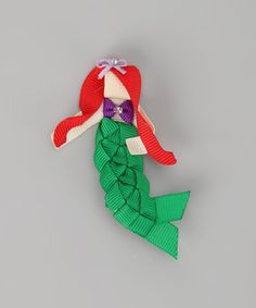 Take a look at this Redhead Mermaid Clip by Couture Hair Bows  Bows for a Princess on #zulily today!