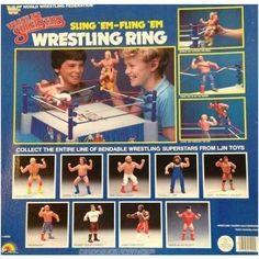 "WWF WWE LJN /""SLING EM FLING EM/"" WRESTLING RING CUSTOM FIT REPLACEMENT ROPES"