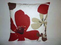 "Cushion Pillow Cover Red Brown Black Taupe White Designer Pillowcase Sham Slip ONE 16"" (40cm) more available on Etsy, $14.50"