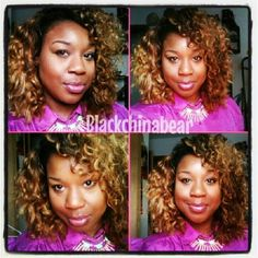 @blackchinabear rockin our #indianremy with a custom color!! Gotta luv it, #teamwags! $hop online at www.wagmanhair.com for the next couple of hours before our #vday sale ends!!!!!!!