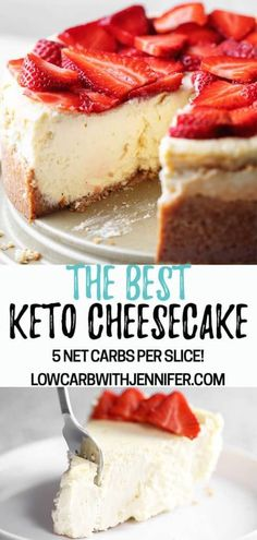 This really is the best low carb and keto cheesecake. Even my non-keto family proclaimed This is the best cheesecake I have ever had! This really is the best low carb and keto cheesecake. Even my non-keto family proclaimed Desserts Keto, Keto Friendly Desserts, Dessert Recipes, Keto Snacks, Dinner Recipes, Holiday Desserts, Keto Cake, Keto Cupcakes, Best Keto Cheesecake Recipe