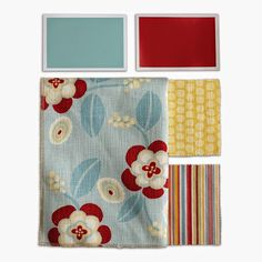 Bring color into your life! Our Swatch Coordinate Sets feature pre-selected color stories for a harmonious home and are available for purchase to help you choose which colors and fabrics are best for you. #mainecottage #color
