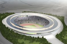 the olympic stadium in tokyo by tokujin yoshioka