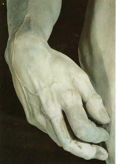 michelangelo david detail of david s hand