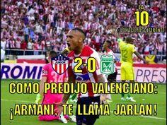 COMO PREDIJO VALENCIANO: ¡ARMANI, TE LLAMA JARLAN! • La 10 YouTube - VER VÍDEO -> http://quehubocolombia.com/como-predijo-valenciano-armani-te-llama-jarlan-%e2%80%a2-la-10-youtube    Junior venció 2-0 a Nacional con anotaciones de Teófilo Gutiérrez y Jarlan Barrera, consolidando así el estadio Metropolitano como su Fortín. Créditos de vídeo a Popular on YouTube – Colombia YouTube channel
