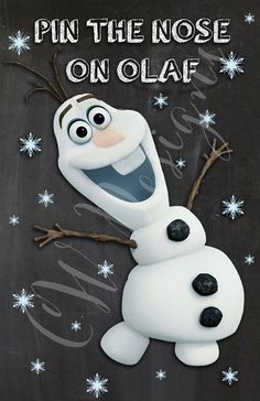 Pin the Nose On Olaf Frozen Party Game PRINT by CWDesignsCO, $10.00