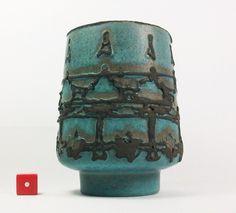 Ruscha Mid Century Modernist 60s/70s Fat Lava West German Pottery Vase 12cm  #Vases
