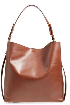4f263effc2dac AllSaints Paradise North South Leather Tote Tan Tote Bag