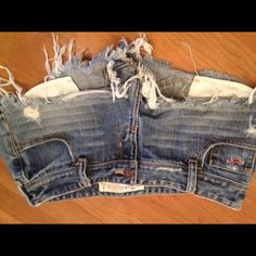 Hollister jean shorts $15 these ones could use some leggings just a bit too short