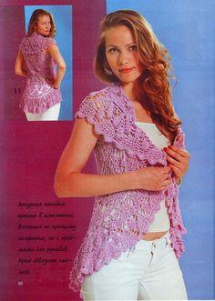 Pink crochet circular ♥LCC♥ with diagram