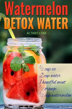 Try this Watermelon water and 5 other fruit-infused detox water recipes for weight loss and clear skin. These detox waters boost metabolism and burn fat. Check all 6 healthy drinks to lose weight. Healthy Detox, Healthy Drinks, Easy Detox, Healthy Water, Diet Drinks, Healthy Food, Beverages, Watermelon Detox Water, Cucumber Water