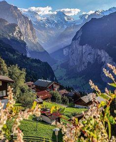 Above Lauterbrunnen, Wengen - Switzerland 🇨🇭 Wengen Switzerland, Switzerland Vacation, Visit Switzerland, Romantic Vacations, Romantic Travel, Places To Travel, Places To Go, Travel Destinations, Beautiful Places To Visit
