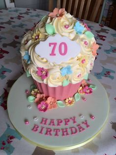 This blog has the fantastic Pink Whisk Chocolate Giant Cupcake Recipe in it and loads of fabulous examples on how to decorate them for your inspiration.