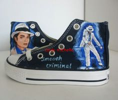 thriller Michael Jackson shoes Handpainted by michellehandpainted, $89.99