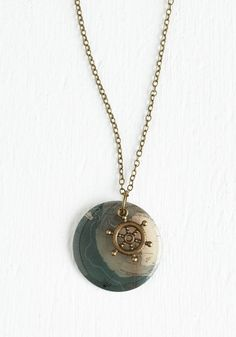 Map to It! Necklace, #ModCloth