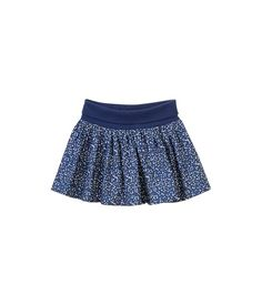 Girl's gathered twill skirt with hearts print