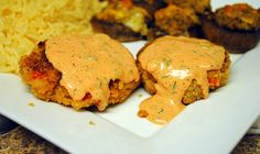 romoulade sauce for crab cakes. - Made this sauce for crab cakes. Delish. Will make again.  ~JKM Feb 2013