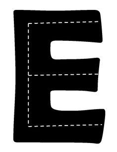 E for Block Center Alphabet Crafts, Monogram Alphabet, Letter Activities, Preschool Learning Activities, Block Center Preschool, Preschool Names, Alphabet Pictures, Teaching Schools, Learning Methods