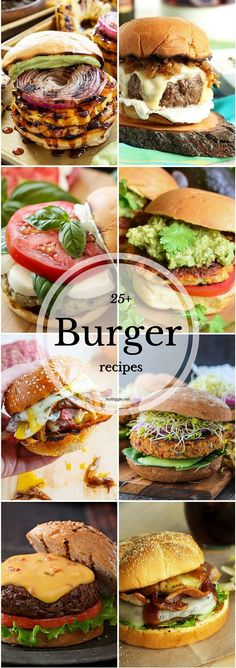 25+ Burger recipes | NoBiggie.net #chickenfoodrecipes
