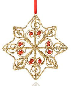 Holiday Lane Wire Snowflake Ornament, Only at Macy's - Christmas Ornaments - For The Home - Macy's