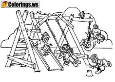 10 Best Playground Coloring Pages images in 2018