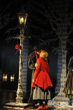 Set-design for 'The Snow Queen' , Rose #Theatre , Kingston, 2011 ~ Su Blackwell #TheSnowQueen