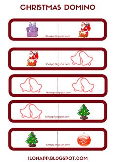 English Freak: CHRISTMAS DOMINO PART 3 (PRINTABLE)