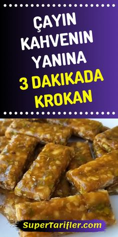 We make croissants near tea and coffee in 3 minutes , Turkish Kitchen, Middle Eastern Recipes, Snack Bar, Homemade Beauty Products, Granola Bars, Croissants, Nutella, Bacon, Food And Drink