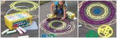 Sidewalk Spirograph + 50 piece Chalk Set #Giveaway - http://chant3llo.com/sidewalk-spirograph-50-piece-chalk-set-giveaway/