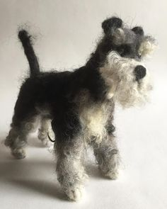 """Needle felt #Schnauzer by Emma Herian (@creativefelts) on Instagram: """"Sold this cute #schnauzer this morning, he was rather special! #NeedleFelt #NeedleFelting #Felting…"""""""