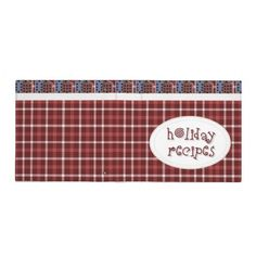Holiday Recipe Cookbook Avery Binder