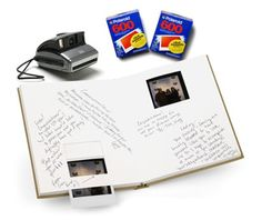 could have guests take a polaroid of themselves and write a short note along with their photo..