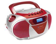 Blaupunkt B 6 tragbares CD Radio mit Kassettenplayer (LCD-Display mit Backlight, 2 x 1 Watt, UKW/MW, Albumfunktion) rot: Amazon.de: Elektronik