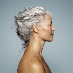 I think her hair is lovely; however gray hair does require more care as it is a sign of aging hair - just treat it well and wear it proudly.