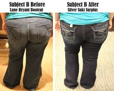 An illustrative post on how to avoid Mom Jeans if you're plus sized, and how to make your booty look absolutely awesome.
