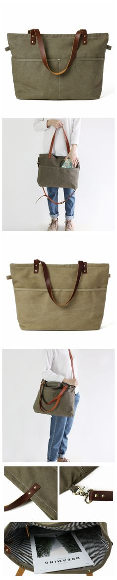 Handmade Canvas Tote Bag Messenger Bag Shopper Bag School Bag Handbag 14022