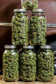 And she said we didn't need all these jars